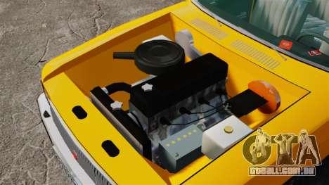 Táxi de gaz-3102 para GTA 4 vista de volta