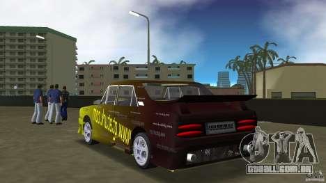Anadol GtaTurk Drift Car para GTA Vice City vista traseira esquerda