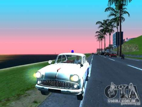Moskvitch 403 com polícia para GTA San Andreas esquerda vista