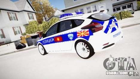 Ford Focus Macedonian Police para GTA 4 esquerda vista