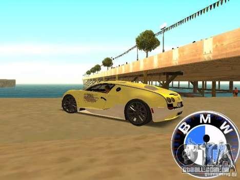 BMW velocímetro para GTA San Andreas terceira tela