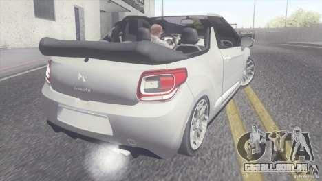Citroen DS3 Convertible para GTA San Andreas esquerda vista
