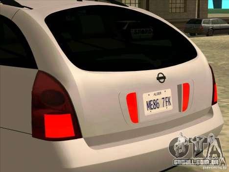 Nissan Primera Wagon para GTA San Andreas vista direita