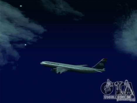 Airbus A330-300 US Airways para vista lateral GTA San Andreas