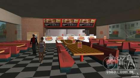 Burgerking-MOD para GTA Vice City por diante tela