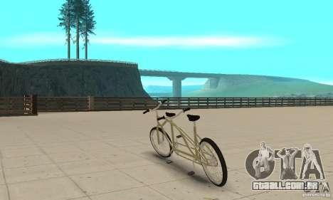 double classic MT Bike para GTA San Andreas traseira esquerda vista
