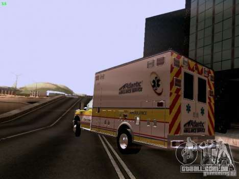 Ford F-350 Ambulance para GTA San Andreas esquerda vista