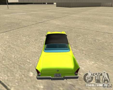 Plymouth Savoy 1957 para GTA San Andreas vista interior