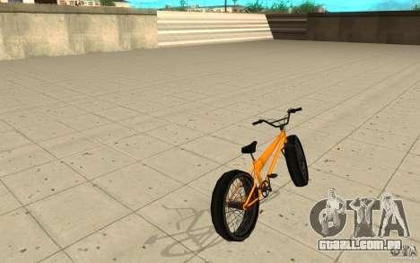 BMX Long Big Wheel Version para GTA San Andreas traseira esquerda vista
