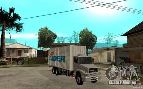 Camiun Hiper Lider para GTA San Andreas vista traseira