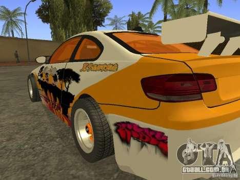 BMW M3 E92 DriftRoots para GTA San Andreas esquerda vista