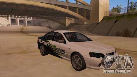Ford Falcon XR8 2008 Tunable V1.0 para GTA San Andreas vista direita