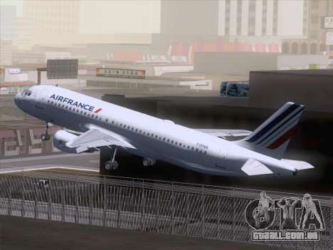 Airbus A320-211 Air France para GTA San Andreas vista interior