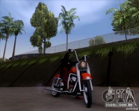 Harley-Davidson FL Duo Glide 1961 (Lowrider) para GTA San Andreas vista interior