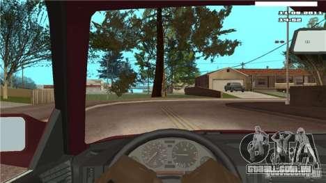 Câmera de primeira pessoa no carro para GTA San Andreas