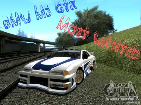Vinil com o BMW M3 GTR em Most Wanted para GTA San Andreas