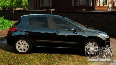Peugeot 308 2007 para GTA 4 esquerda vista