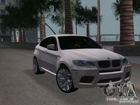 BMW X6M para GTA Vice City vista direita