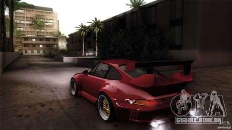 Porsche 993 RWB para GTA San Andreas esquerda vista