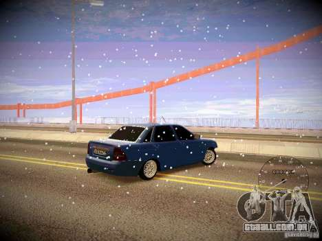 Lada Priora Turbo v2.0 para GTA San Andreas vista traseira