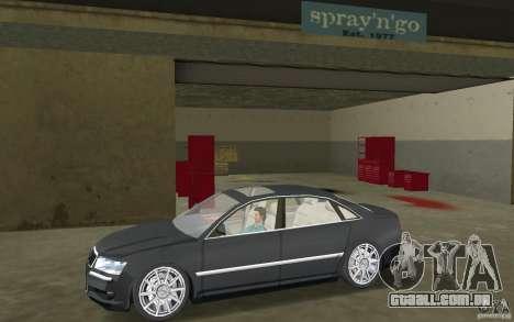 Audi A8 para GTA Vice City vista traseira esquerda