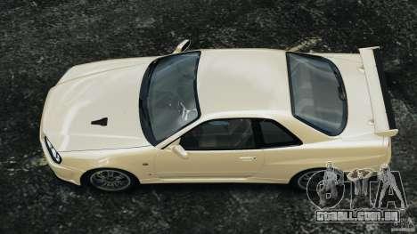 Nissan Skyline GT-R R34 2002 v1.0 para GTA 4 vista direita