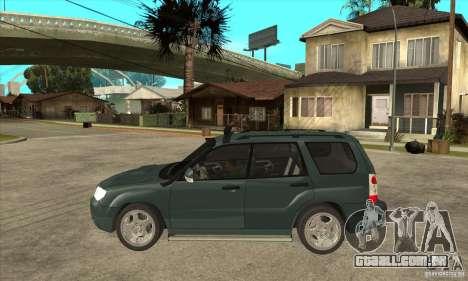 Subaru Forester para GTA San Andreas esquerda vista