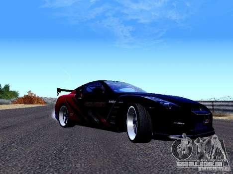 Nissan Skyline R35 Drift Tune para GTA San Andreas esquerda vista