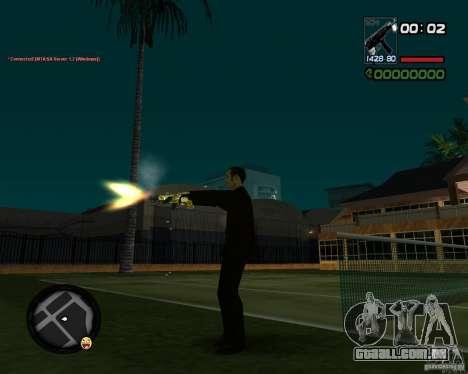 Tec 9 GOLD para GTA San Andreas por diante tela