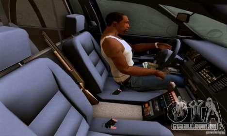 Ford Crown Victoria Mississippi Police para GTA San Andreas traseira esquerda vista