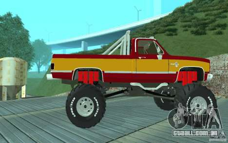 Chevrolet Silverado 2500 MonsterTruck 1986 para GTA San Andreas traseira esquerda vista