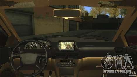 Toyota Corolla G6 Compact E110 US para GTA San Andreas vista interior
