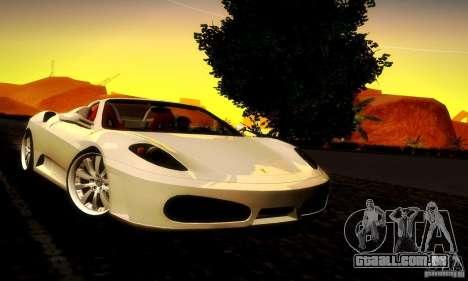 Ferrari F430 Spider para GTA San Andreas traseira esquerda vista