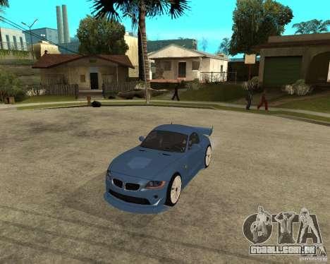 BMW Z4 Supreme Pimp TUNING volume I para GTA San Andreas esquerda vista