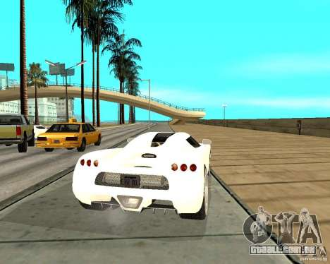 Koenigsegg CCRT para GTA San Andreas traseira esquerda vista