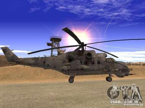 Mi-24 de COD MW 2 para GTA San Andreas esquerda vista