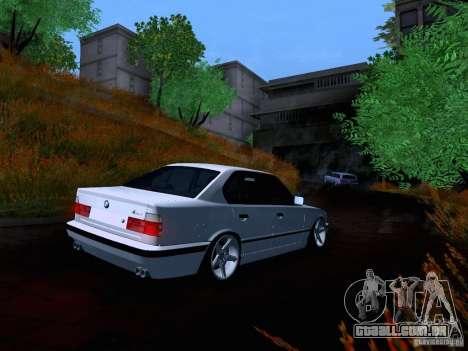 BMW M5 E34 Stance para GTA San Andreas vista traseira