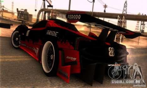 Pagani Zonda R para GTA San Andreas vista superior
