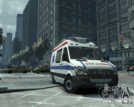 Mercedes-Benz Sprinter Azerbaijan Ambulance v0.1 para GTA 4 esquerda vista