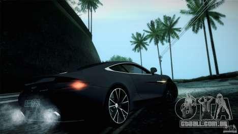 Aston Martin Vanquish V12 para GTA San Andreas vista direita