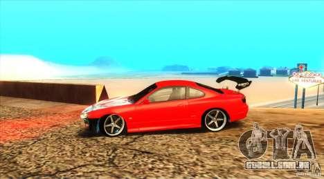 Nissan Silvia S15 para GTA San Andreas vista traseira