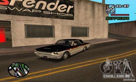 Ford Thunderbird 1964 para vista lateral GTA San Andreas