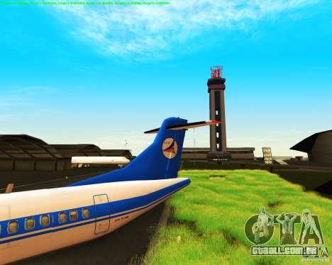 ATR 72-500 Azerbaijan Airlines para GTA San Andreas vista traseira