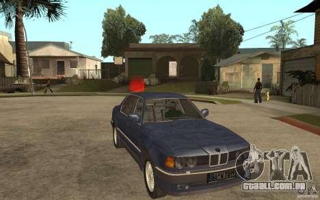 BMW 735Li e32 para GTA San Andreas vista traseira