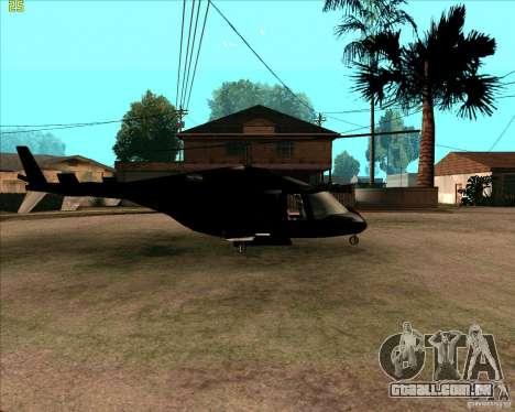 Airwolf para GTA San Andreas traseira esquerda vista