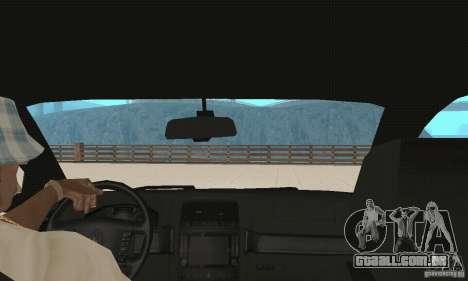 Volkswagen Touareg 2008 para GTA San Andreas vista interior