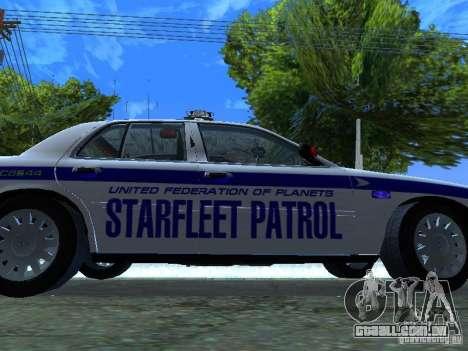 Ford Crown Victoria Police Interceptor 2008 para GTA San Andreas vista interior