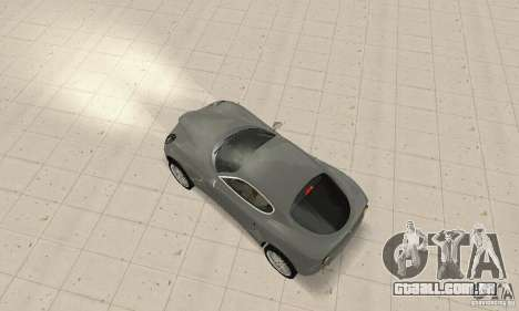 Alfa Romeo 8 c Competizione estoque para GTA San Andreas vista superior