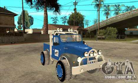 Aro M461 - Offroad Tuning para GTA San Andreas vista traseira
