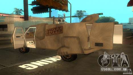 Dumb and Dumber Van para GTA San Andreas esquerda vista